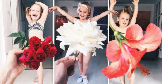 Cover Vistió a su hija con flores y comida... Ahora es una estrella de Internet por sus adorables fotos