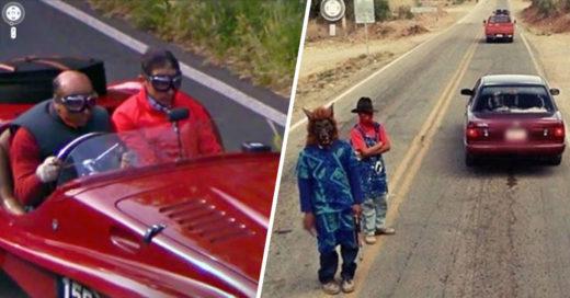 Cover situaciones extrañas captadas en Google Maps