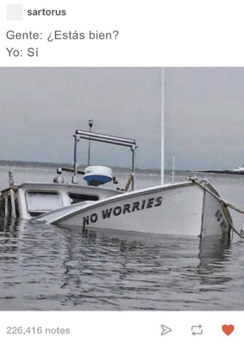 barco indido con un nombre para no preocuparse