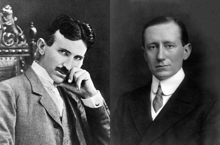 Nikola Tesla y Guglielmo Marconi quien robo la idea del primero para la onda de radio