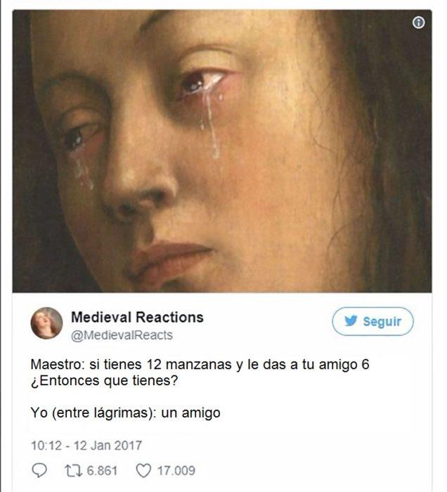 Pintura de mujer llorando