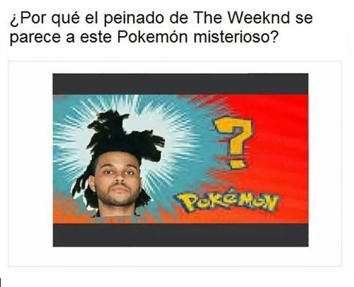 weeknd parece Pokemón misterioso