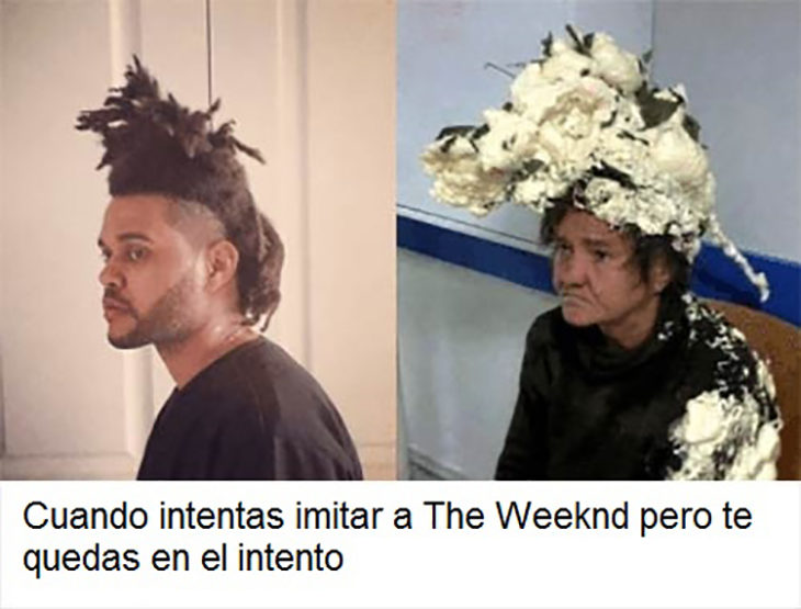 Imitadores del peinado the Weeknd