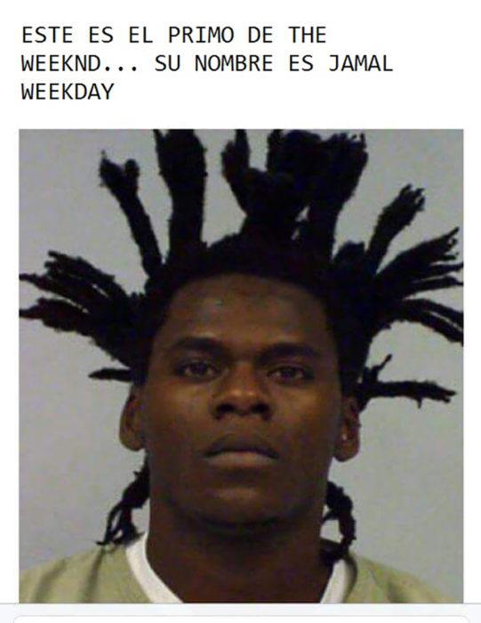 convicto que tiene un peinado similar al de The weeknd