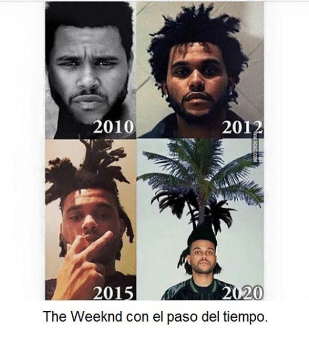 Los diferentes peinados de The weeknd a lo largo del tiempo