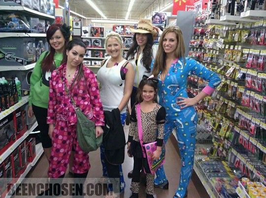 familia en pijama