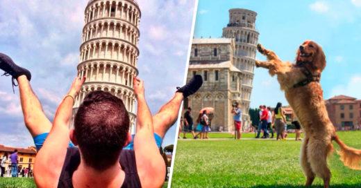 Cover Creativas fotos de personas que posaron junto a la Torre de Pisa