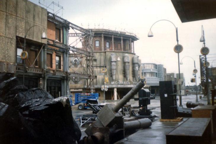 set de la película de Batman abandonado