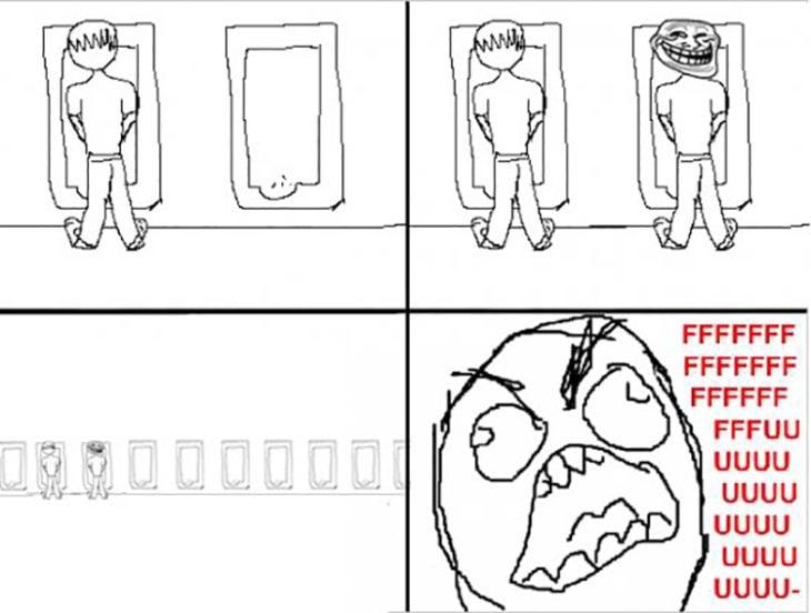 Situación incomoda en la que alguien más se pone a tu lado al ir al baño