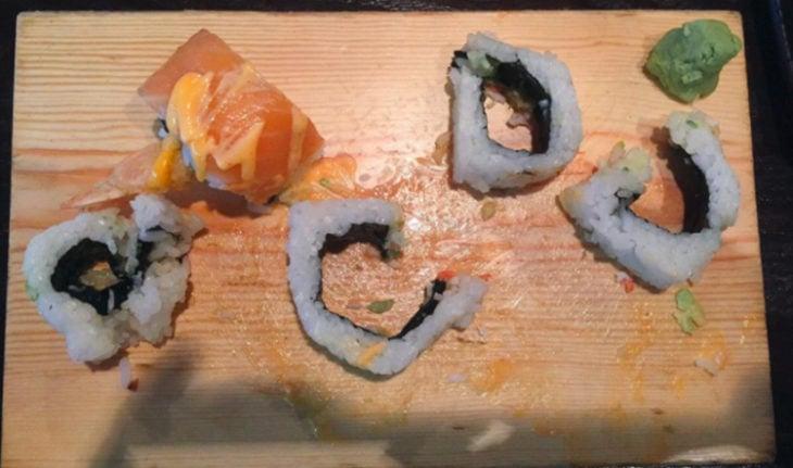 rollos de sushi sin relleno