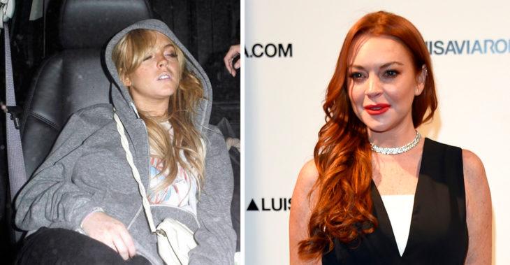 Lindsay antes y ahora