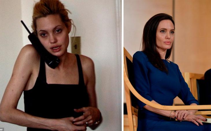 Angelina antes y ahora