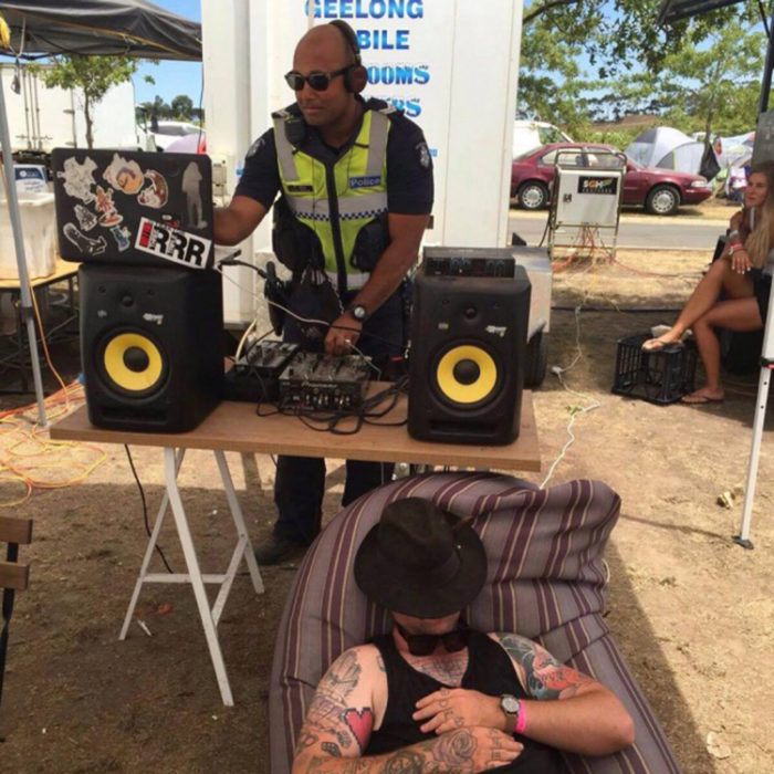 Policía australiano dj
