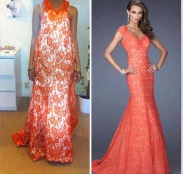 Expectativa vs Realidad - Vestido naranja