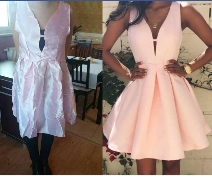 Expectativa vs Realidad - vestido corto