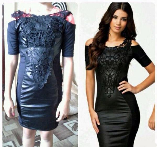 Expectativa vs Realidad - vestido negro sexy