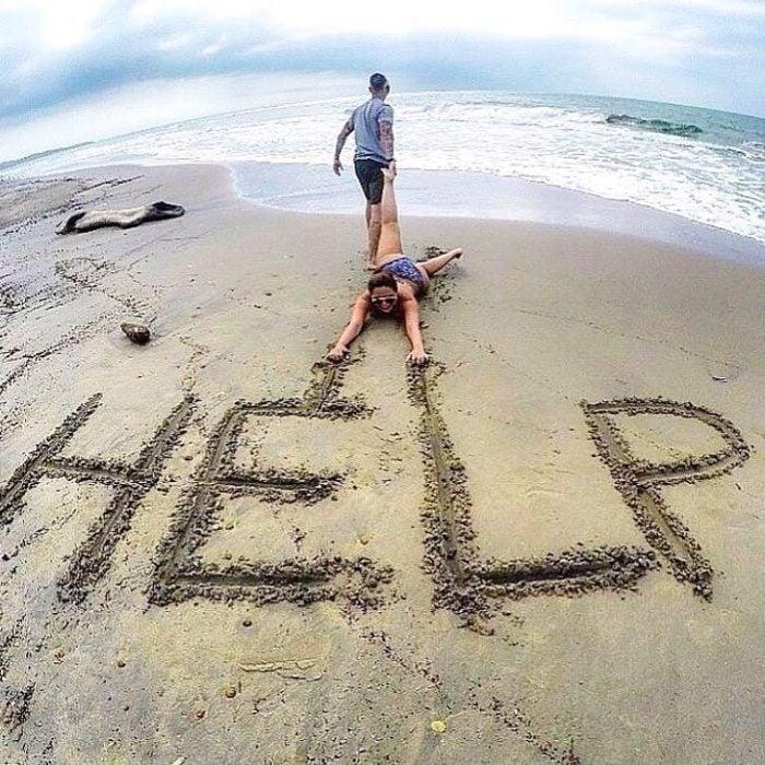 Fotografía en la playa HELP