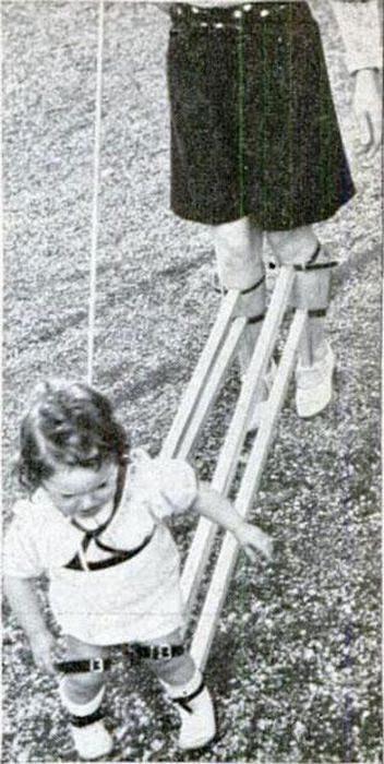 Cómo enseñaban a caminar a los niños antes