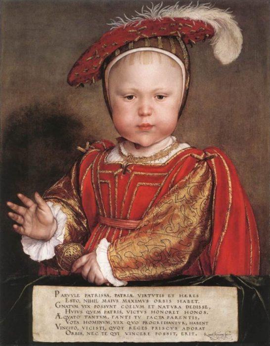 Niño realeza pintura retrato