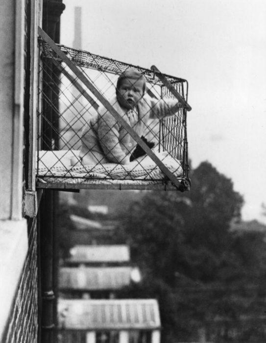 Jaula de niños al aire libre