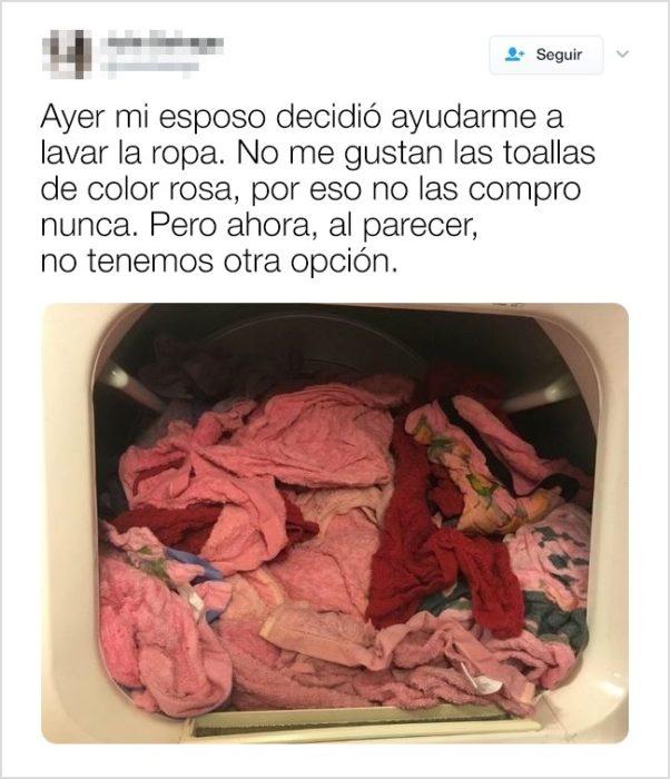 lavadora color rojo Tuits vida en pareja matrimonio