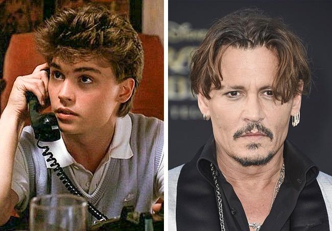 Johnny Deep Antes y después niños películas de terror