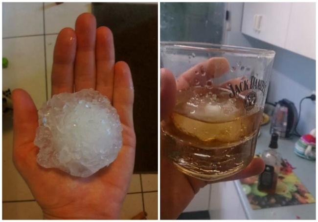 granizo gigante hielo