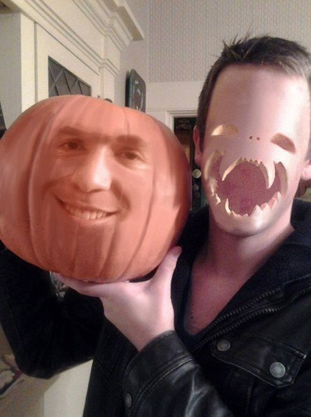 Face swap calabaza