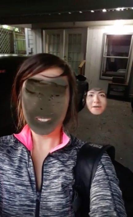 Face swap mujer y suelo