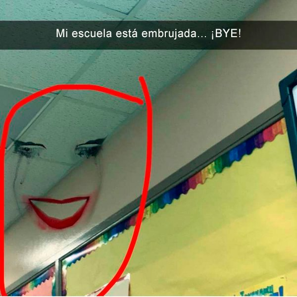 Face swap fantasma escuela