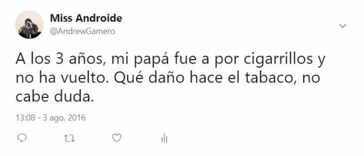cigarros tuit gracioso
