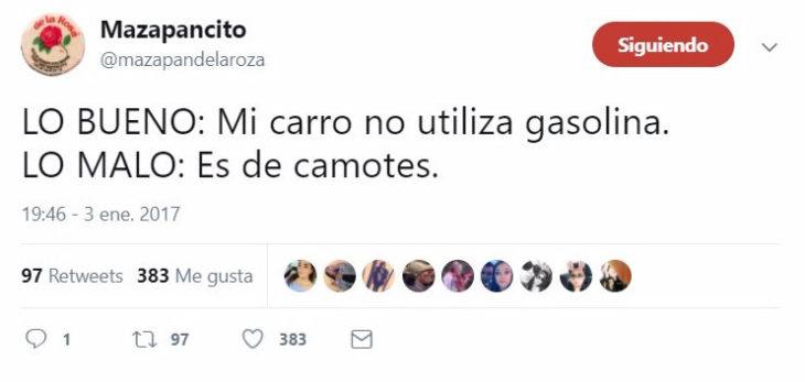 gasolina tuit gracioso