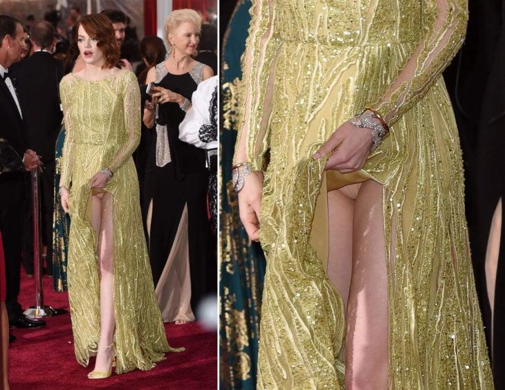Emma stone vestido fail