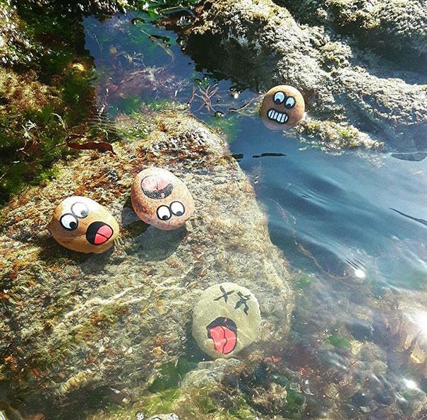 piedras ahogándose