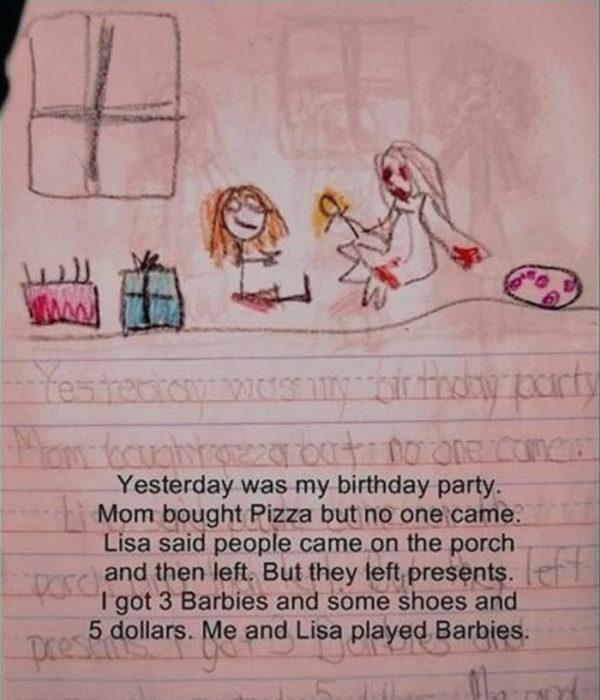 Diario de niña y amiga imaginaria jugando