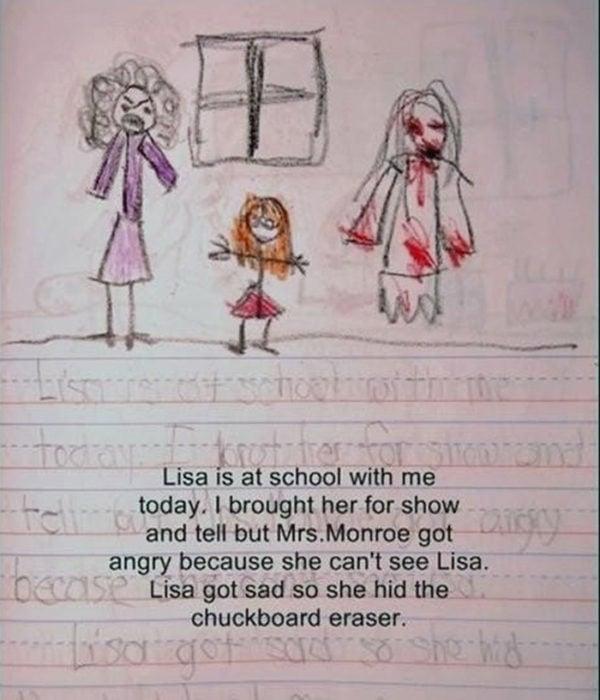 Diario de niña y amiga imaginaria mucha sangre
