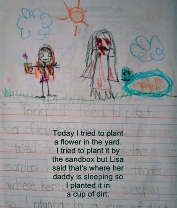 Diario de niña y amiga imaginaria tomando el sol