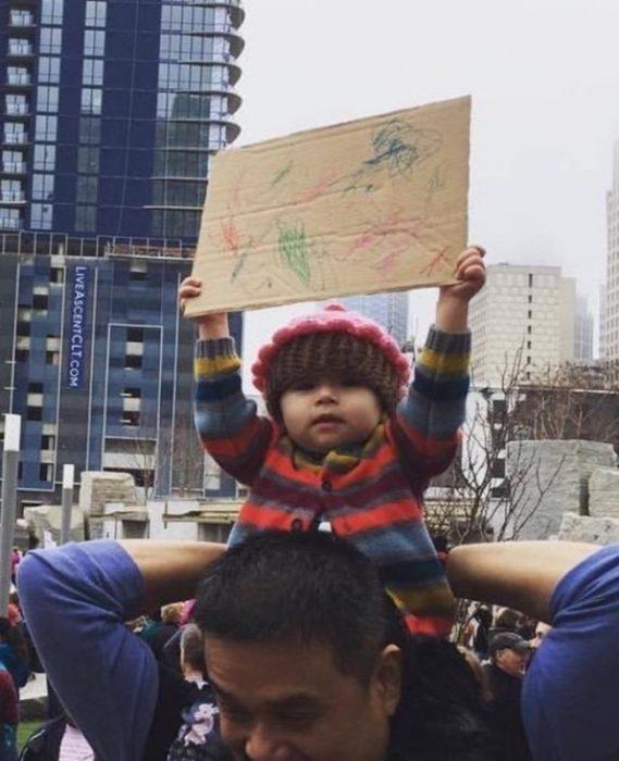 bebé manifestación