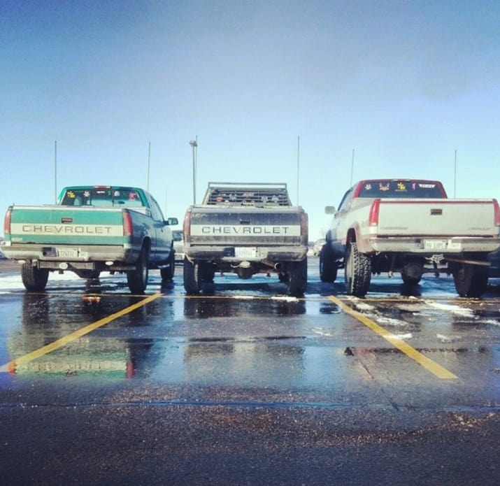 pick up camionetas estacionamiento