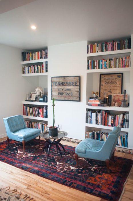 librero sillones