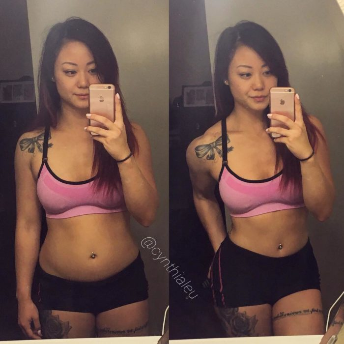 modelo asiática fitness