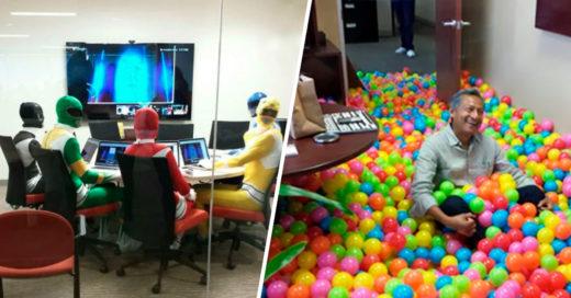 Cover cosas divertidas que solo se pueden ver en una oficina