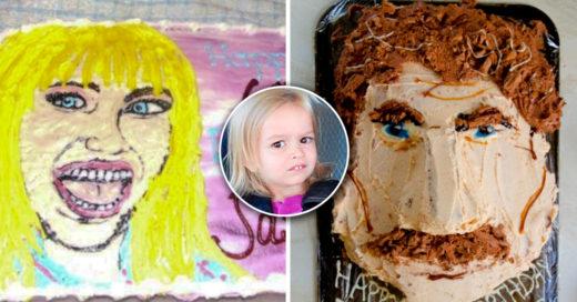 Cover Estos pasteles pretendían mostrar el rostro de famosos pero el resultado fue desastroso