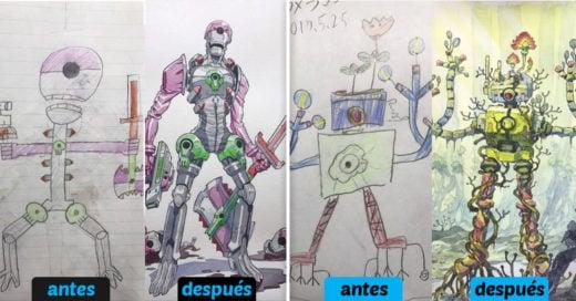 Cover Papá convierte los garabatos de sus hijos en increíbles personajes animados