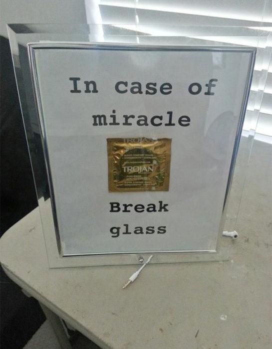 rómpase en caso de milagro