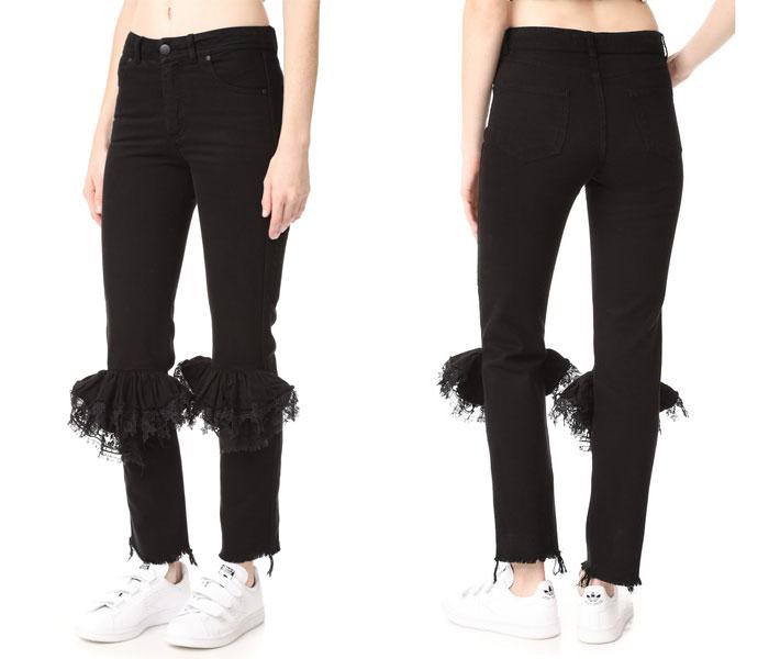Jeans con encaje