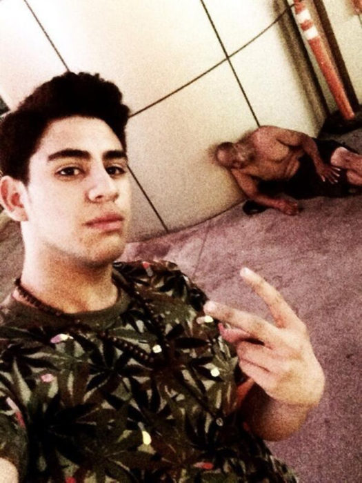Selfie con indigente