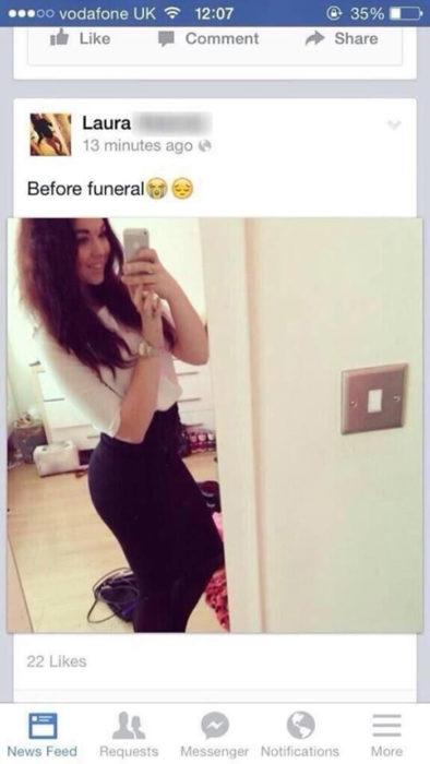 Selfie después de funeral