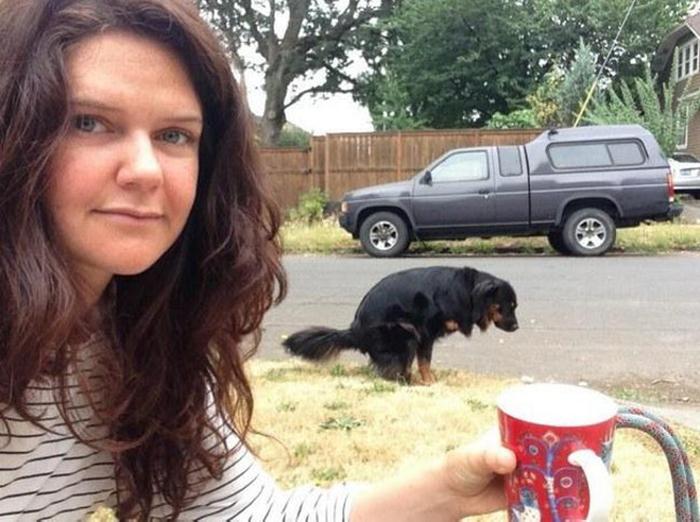 Selfie con el perro