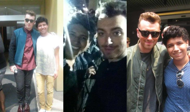 Sam Smith selfie famosos
